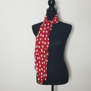 Red Polka Dot Scarf Wrap/3 for $25